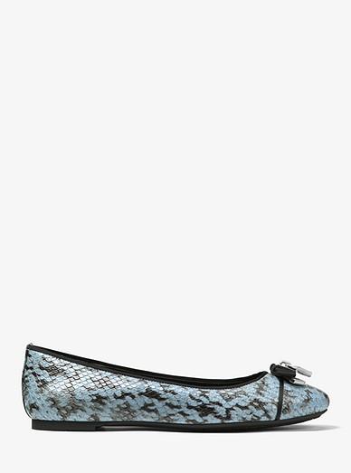 19f7419f179f Alice Snake-Embossed Leather Ballet Flat. Alice Snake-Embossed Leather  Ballet Flat. MICHAEL Michael Kors