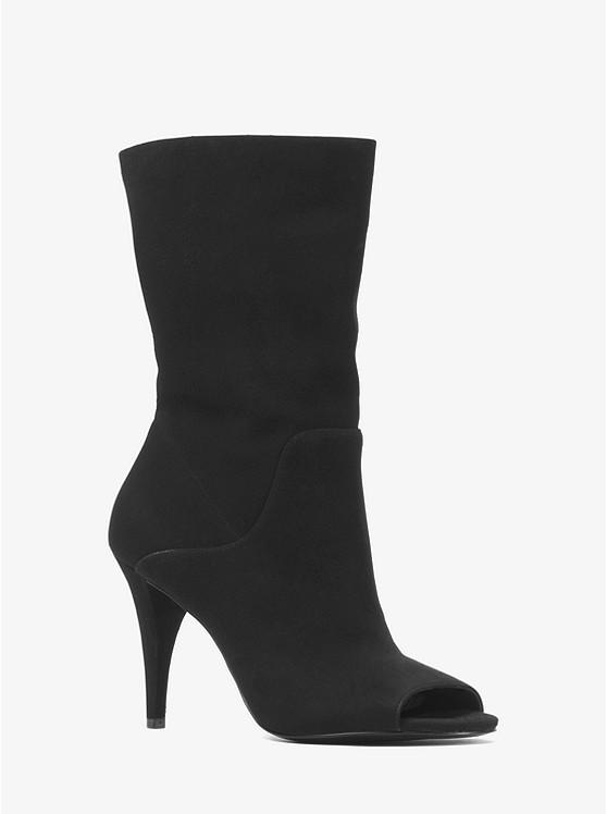 565e746cc Elaine Suede Open-toe Boot   Michael Kors