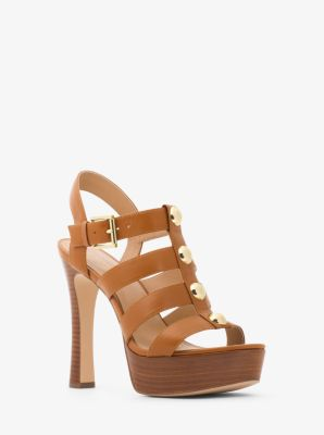 3ca221cdcdb Inez Leather Platform Sandal