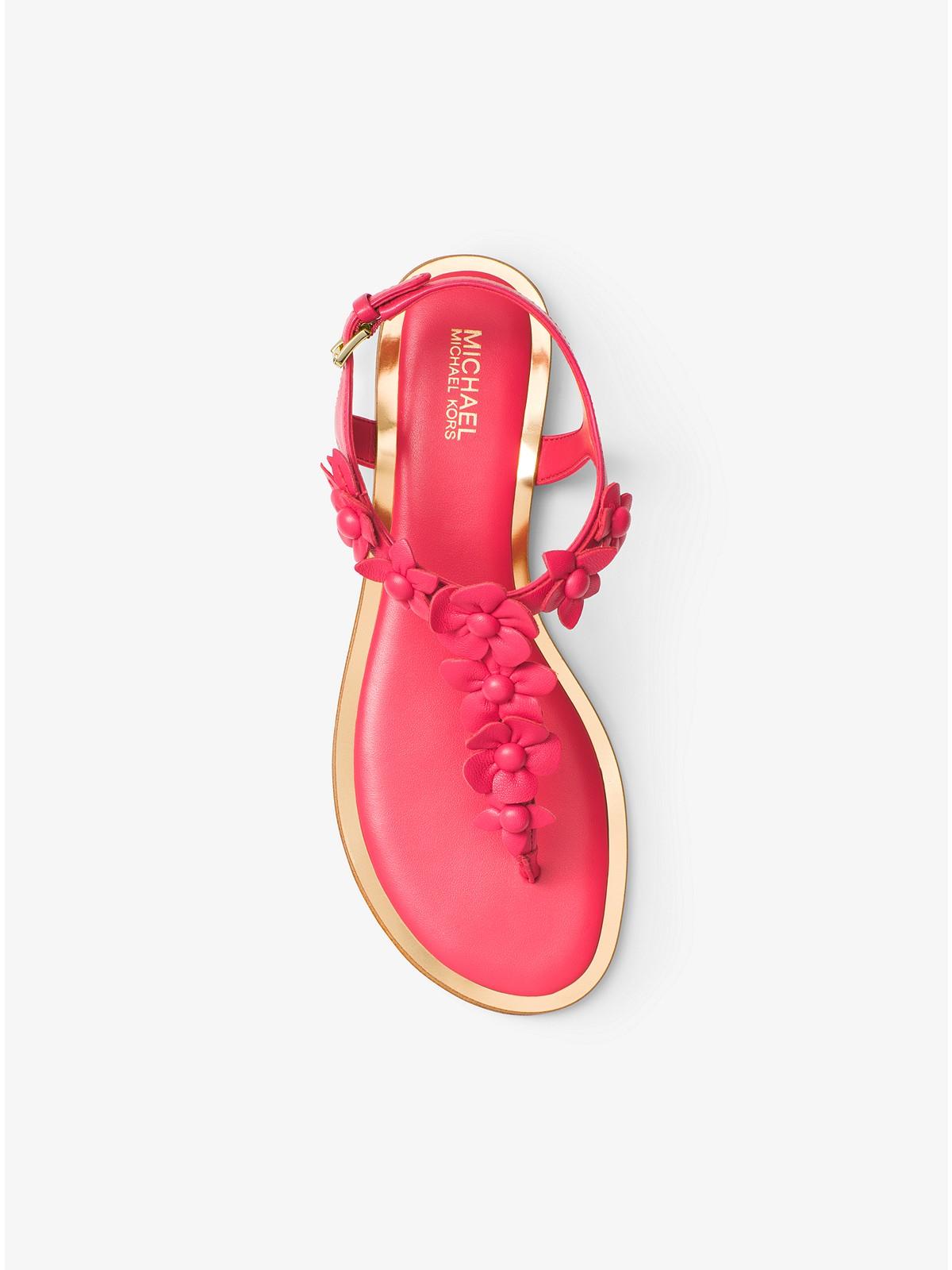 a1f82d1c3bda Michael Kors Tricia Floral Appliqué Leather Sandal at £135
