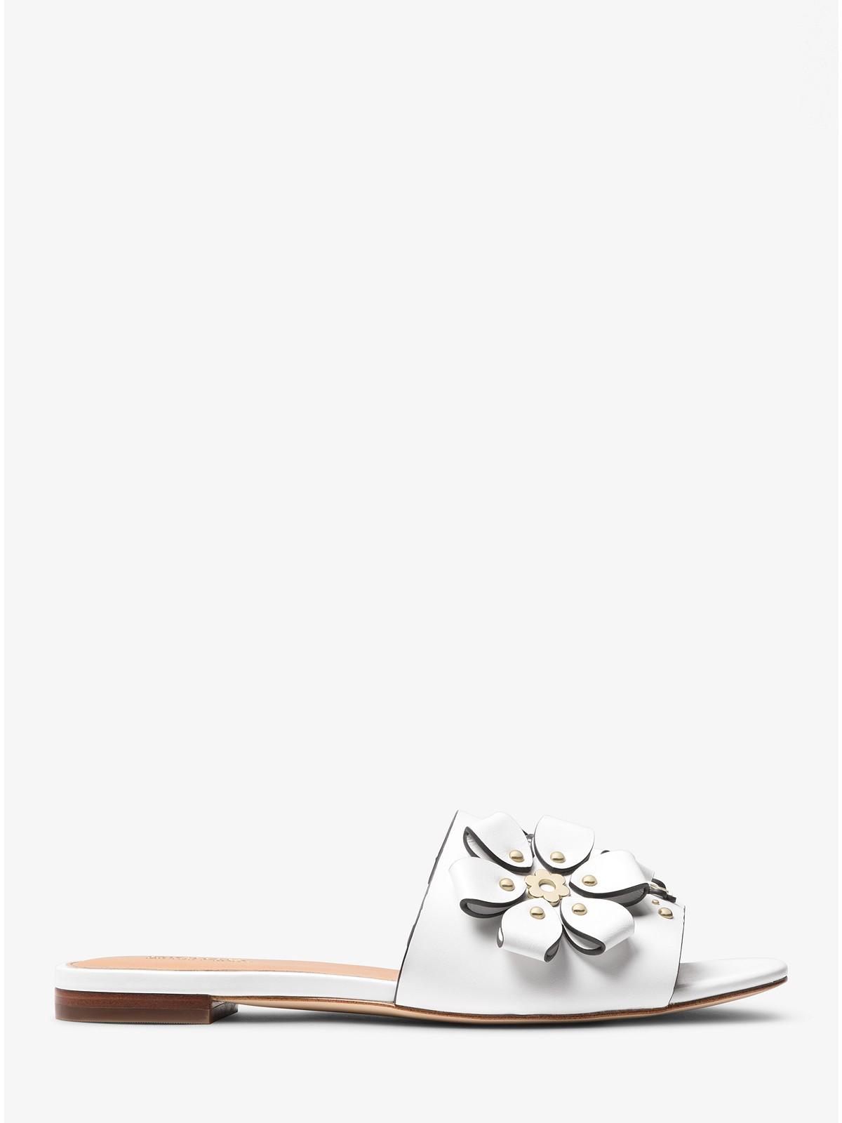 c9da0c3504e Michael Kors Tara Floral Embellished Leather Slide at £135