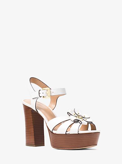 9139699cd6af Tara Floral Embellished Leather Platform Sandal. Find a Store. Sign Up for  updates from Michael Kors