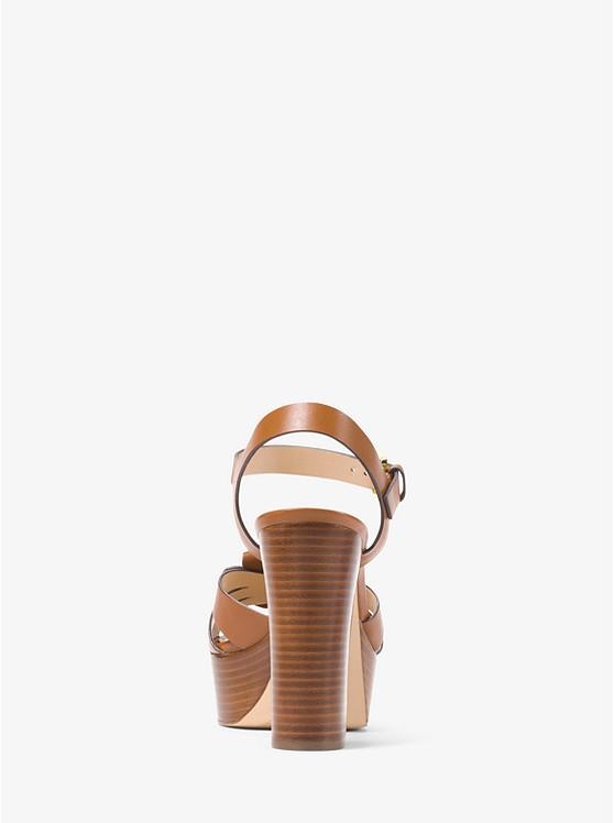 f2d0f401b5e ... Tara Floral Embellished Leather Platform Sandal