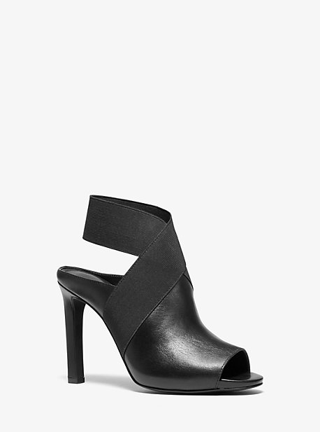 d0fd91b37bb Ames Leather Open-Toe Bootie. michael michael kors ...