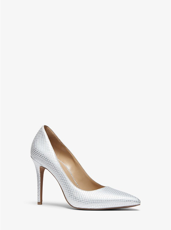 45df2420485a Claire Metallic Snake-Embossed Leather Pump ...