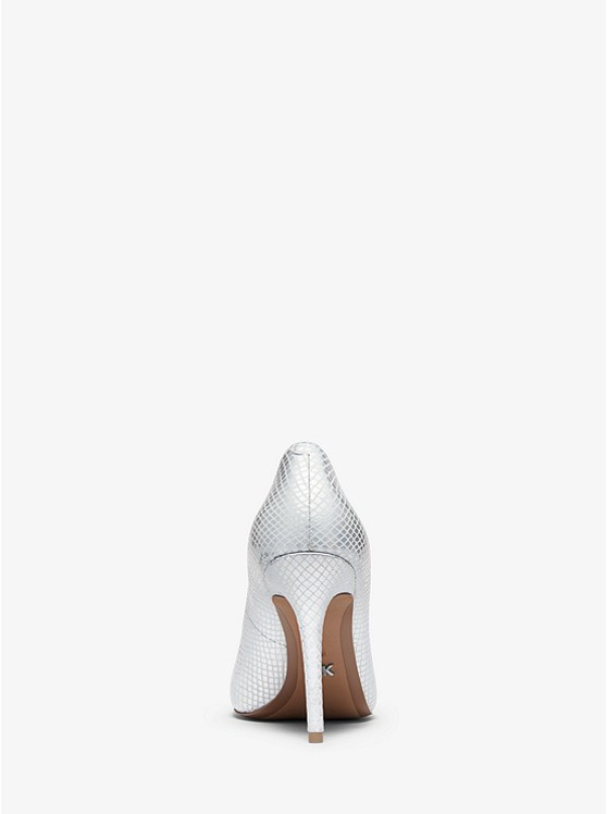 77702eb7345c ... Claire Metallic Snake-Embossed Leather Pump