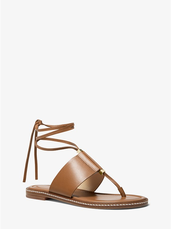 Marlon Leather Lace Up Sandal by Michael Michael Kors