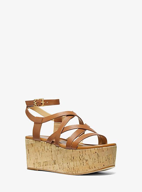 2a252f6cc16a Marlon Leather Wedge Sandal