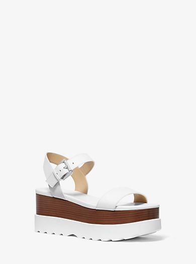 3411a0534454ac Flatform-Sandale Marlon aus Leder. michael michael kors · Flatform-Sandale  ...