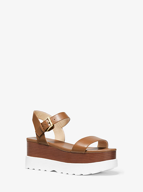 c45deaf4169 Marlon Leather Flatform Sandal