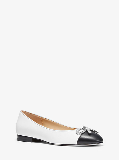 d362b6624 Posey Bow Embellished Leather Ballet Flat. michael michael kors ...