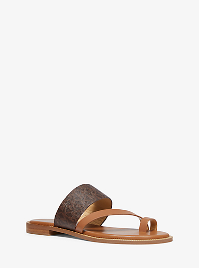 cbe089ff1b72 Pratt Logo and Leather Sandal. michael michael kors · Pratt Logo ...