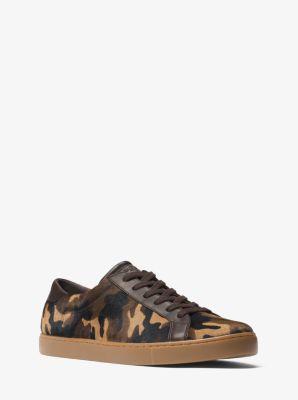 jake camouflage calf hair sneaker | michael kors