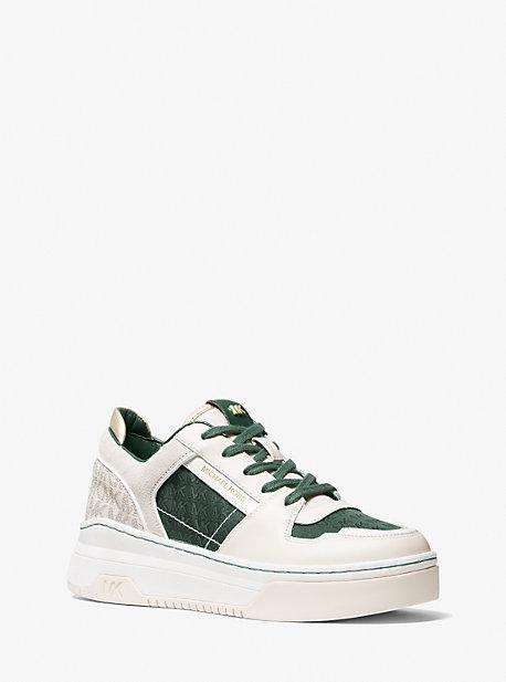 마이클 마이클 코어스 스니커즈 Michael Michael Kors Lexi Mixed-Media Sneaker,MOSS