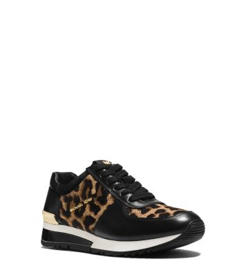 Allie Leopard Calf Hair And Leather Sneaker Michael Kors