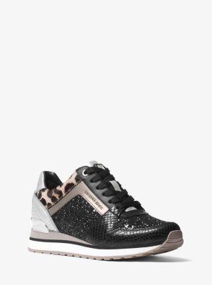 2d33e1f1b6ac Billie Glitter and Leather Sneaker