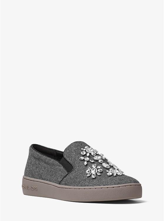 Keaton Embellished Flannel Slip-On Sneaker