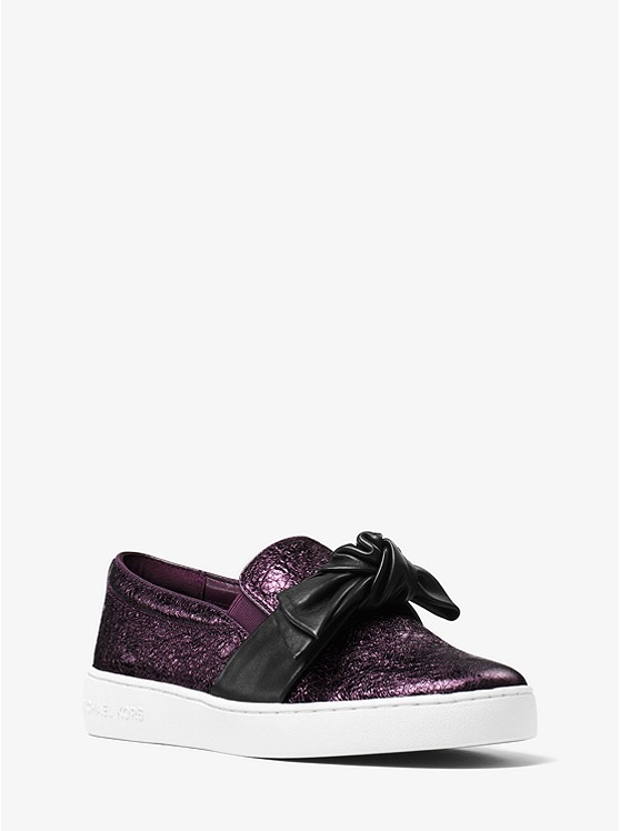 Willa Metallic Leather Slip-On Sneaker