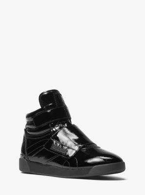 837ec7d72a5 Addie Patent Leather High-Top Sneaker | Michael Kors