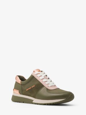 suitable for men/women exquisite craftsmanship exquisite style Allie Leather and Canvas Sneaker   Michael Kors