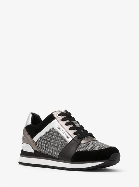49388c6c7d60 Billie Chain-Mesh and Leather Sneaker ...