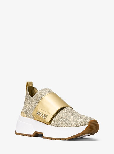 ac2596e6476d Cosmo Metallic Knit Slip-on Trainer