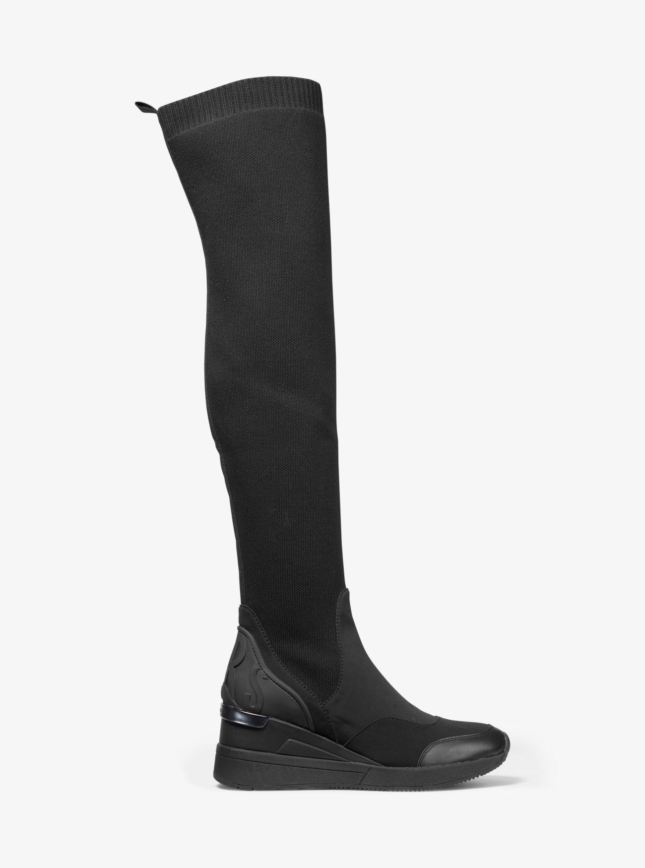 Overknee Und Aus Stretchmaterial Stiefel Khloe Neopren 0kXP8nOw