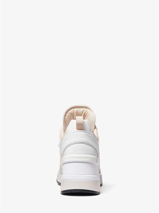 Sneaker Georgie Aus Segeltuch Und Lackleder | Michael Kors