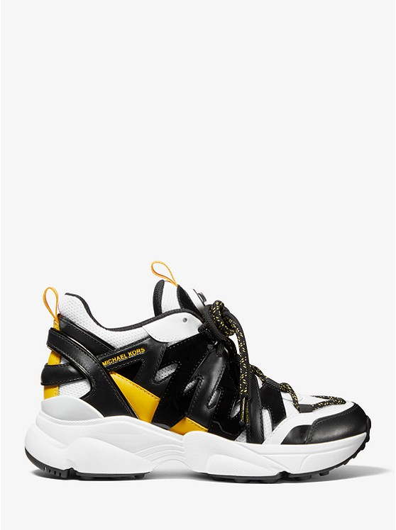 Hero Leather And Mesh Trainer | Michael Kors