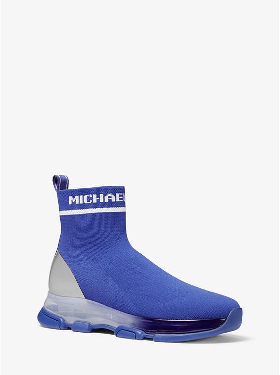 Kendra Reflective Stretch Knit Sock Sneaker