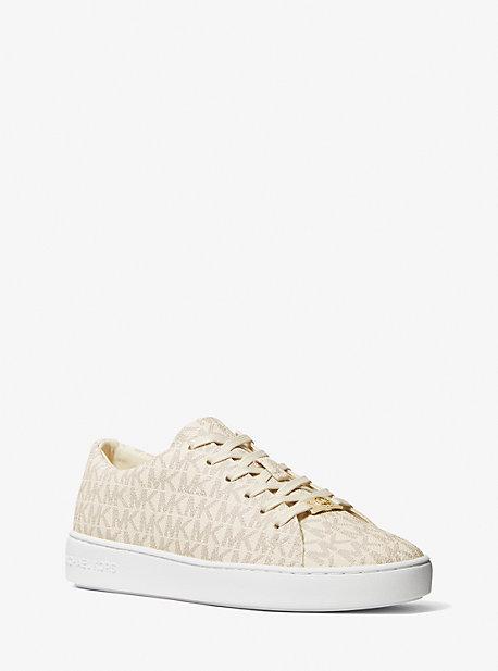 마이클 마이클 코어스 키튼 스니커즈 Michael Michael Kors Keaton Logo Sneaker,VANILLA