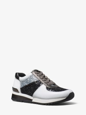 e265e43e9822 Allie Glitter and Leather Sneaker