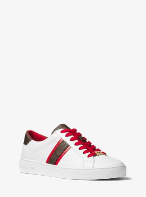 31514abead925 Irving Leather and Logo Sneaker