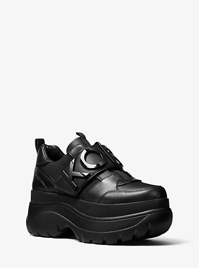 sports shoes e8b7a 2ab5b Zapatilla Cortlandt de piel con adornos y plataforma