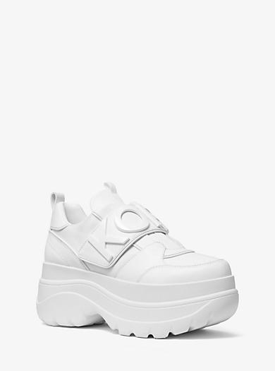 27d9e47bbf9cb Verzierter Plateau-Sneaker Cortlandt aus Leder · michael michael kors ·  Verzierter ...