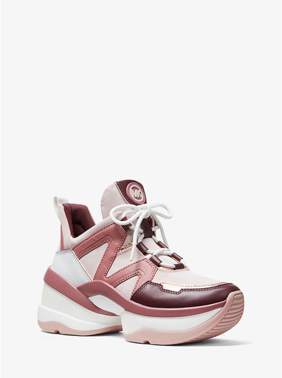 caa3b8d8d7f9 Olympia Canvas And Tri-color Leather Trainer