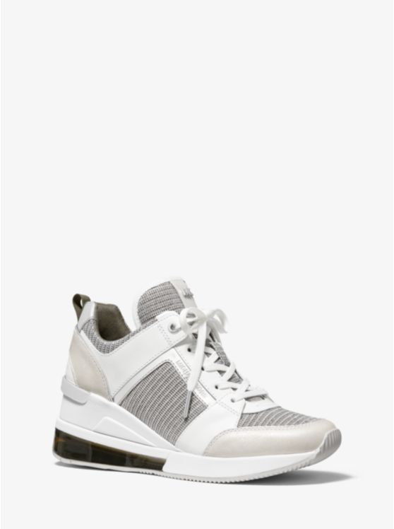 Georgie Extreme Glitter Chain-Mesh And Leather Trainer