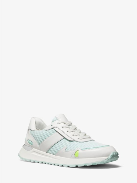 Monroe Mesh and Leather Trainer