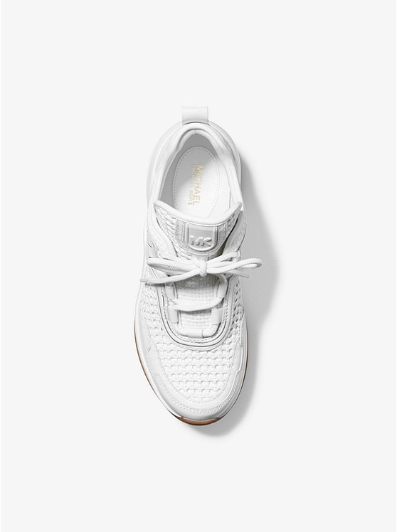 Olympia Woven and Leather Trainer