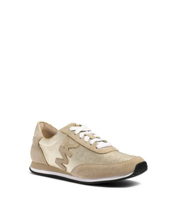 Ganz und zu Extrem Stanton Leather and Suede Sneaker | Michael Kors &YI_72