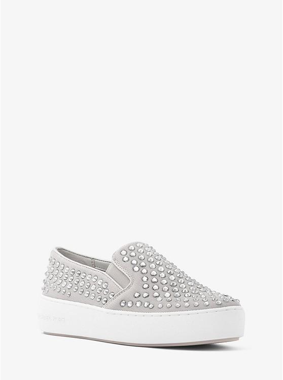 Trent Embellished Mesh Slip-On Sneaker
