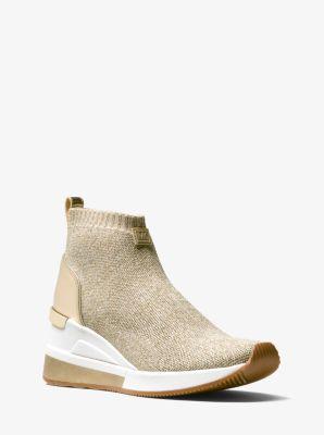 9d3343840454 Skyler Metallic Stretch-Knit Sock Sneaker