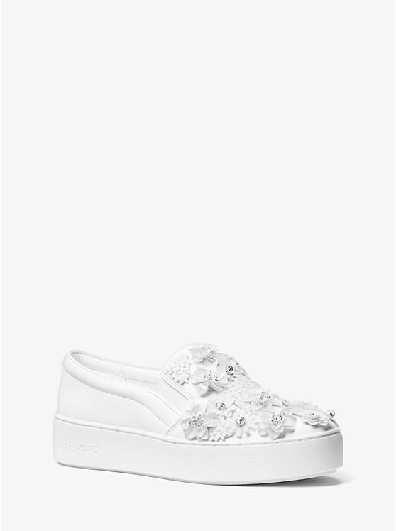 Trent Floral Sequined Slip-On Sneaker