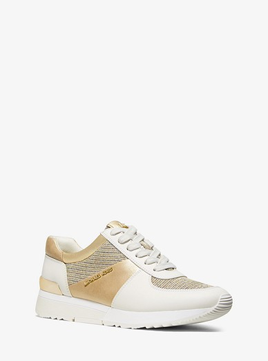 f7d237af Allie Leather And Chain-mesh Trainer | Michael Kors