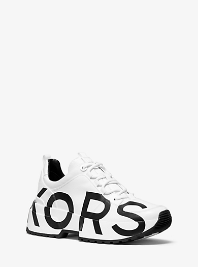 5a0c5a6dffbd Cosmo Printed Leather Trainer · michael michael kors ...