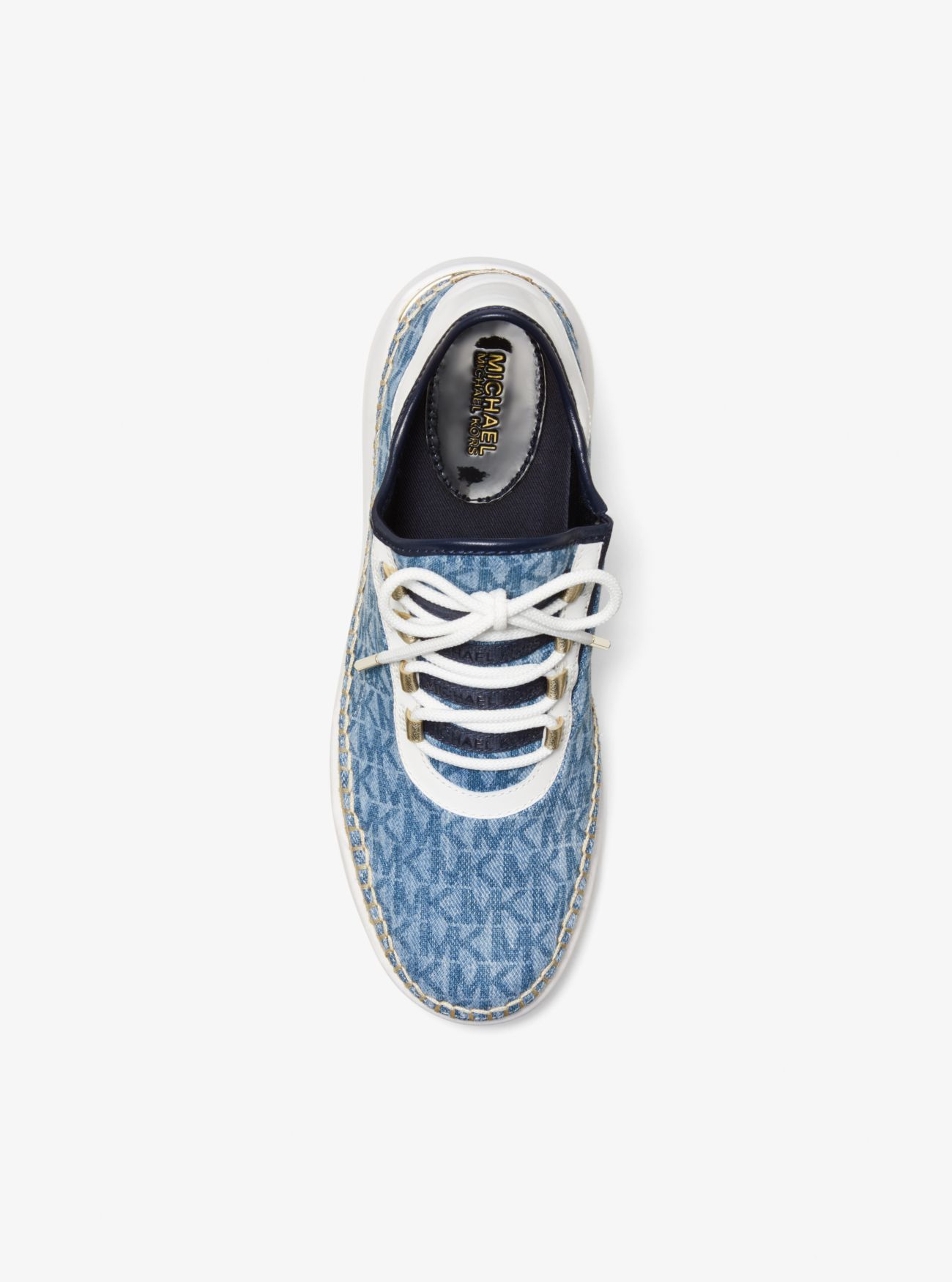 479d9d4886f7 ... Finch Logo Denim Lace-Up Sneaker. MICHAEL Michael Kors