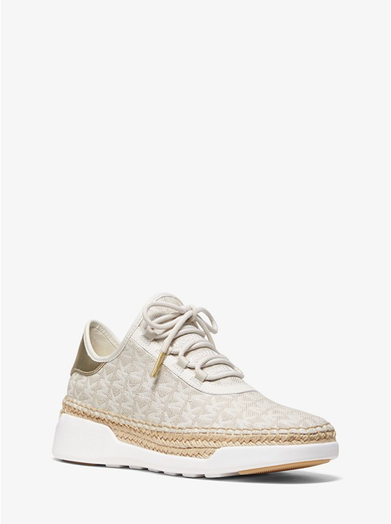 Finch Logo Jacquard Lace-Up Sneaker