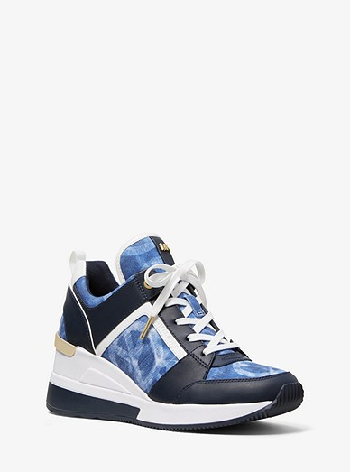 b9f30d62dc2 Georgie Tie-dye Canvas And Leather Trainer