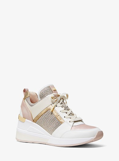 Georgie Leather and Chain Mesh Trainer