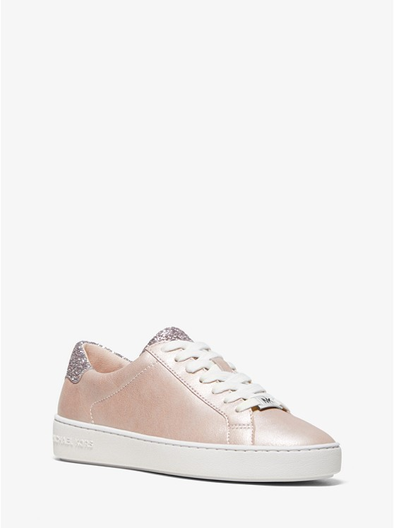 99134f85b00 Irving Pearlized Leather And Glitter Sneaker